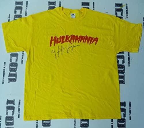Hulk Hogan Signed WWE Hulkamania T-Shirt COA Autograph Wrestlemania WWF - PSA/DNA Certified - Autographed Wrestling Miscellaneous Items
