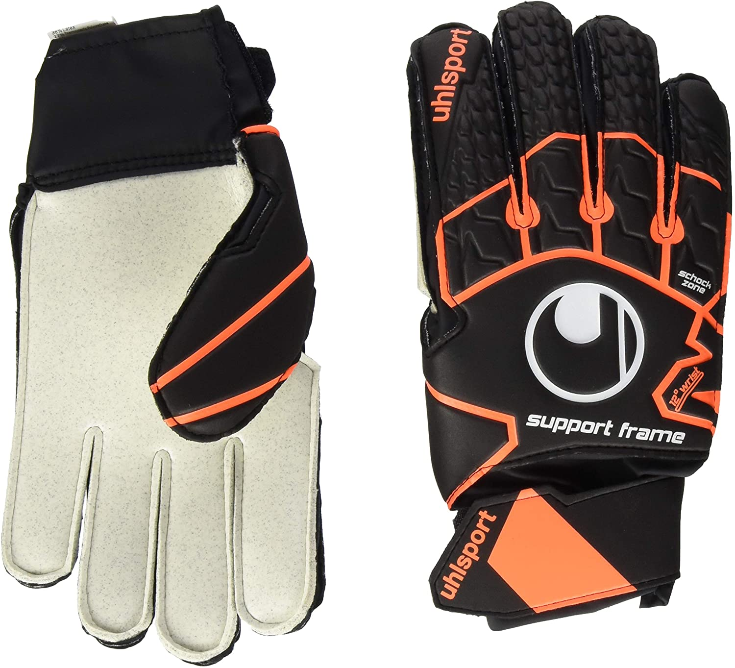 uhlsport Soft Resist SUPPORTFRAME Junior Astro Hard Ground 3G 4G Hard Wearing Goalkeeper Gloves