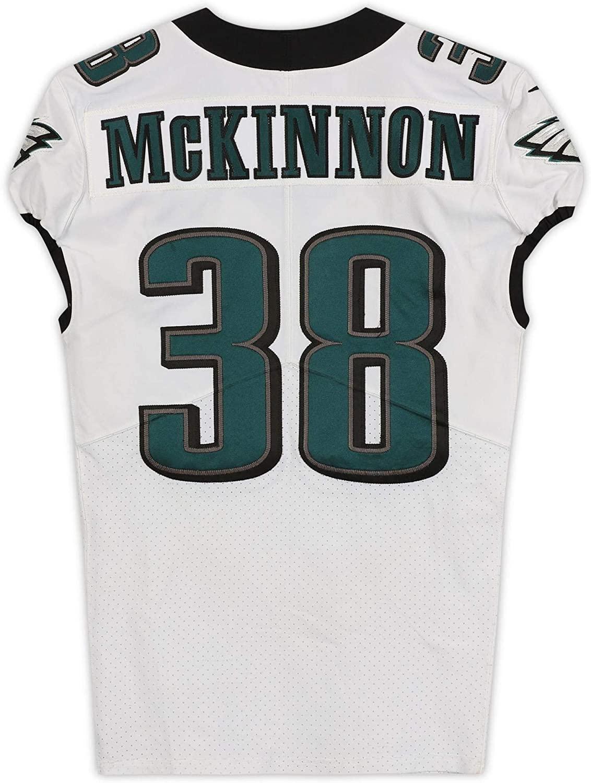 Jeremiah McKinnon Philadelphia Eagles Game-Used #38 White Jersey from the 2019-20 NFL Preseason - Size 40+4 - Fanatics Authentic Certified