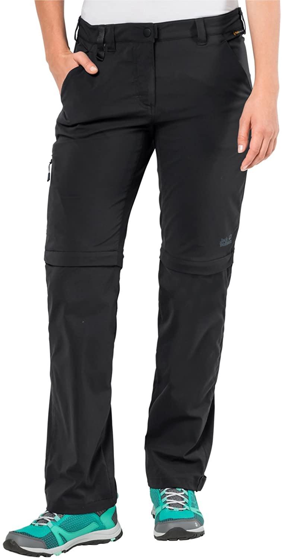 Jack Wolfskin Women's Activate Light Zip Off Pants, Black, 42 (US 33/32)