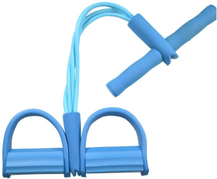 Home Gym Equipment,Fitness Slimming Resistance Bands Yoga Sports Crunches Elastic Pull Rope, Foot Abdomen Trainer