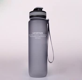 Bicycle Adults Plastic Sport Water Bottle for Tour Camp 1000ml Portable Outdoor Bike Cycling Drink Bottle Cups Light Grey