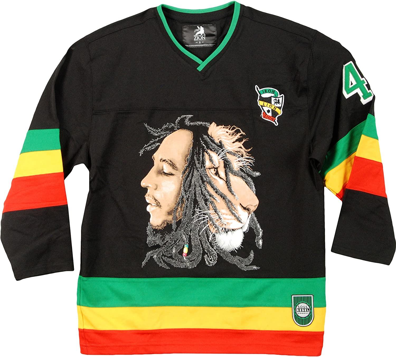Bob Marley - Lion Adult Replica Hockey Jersey