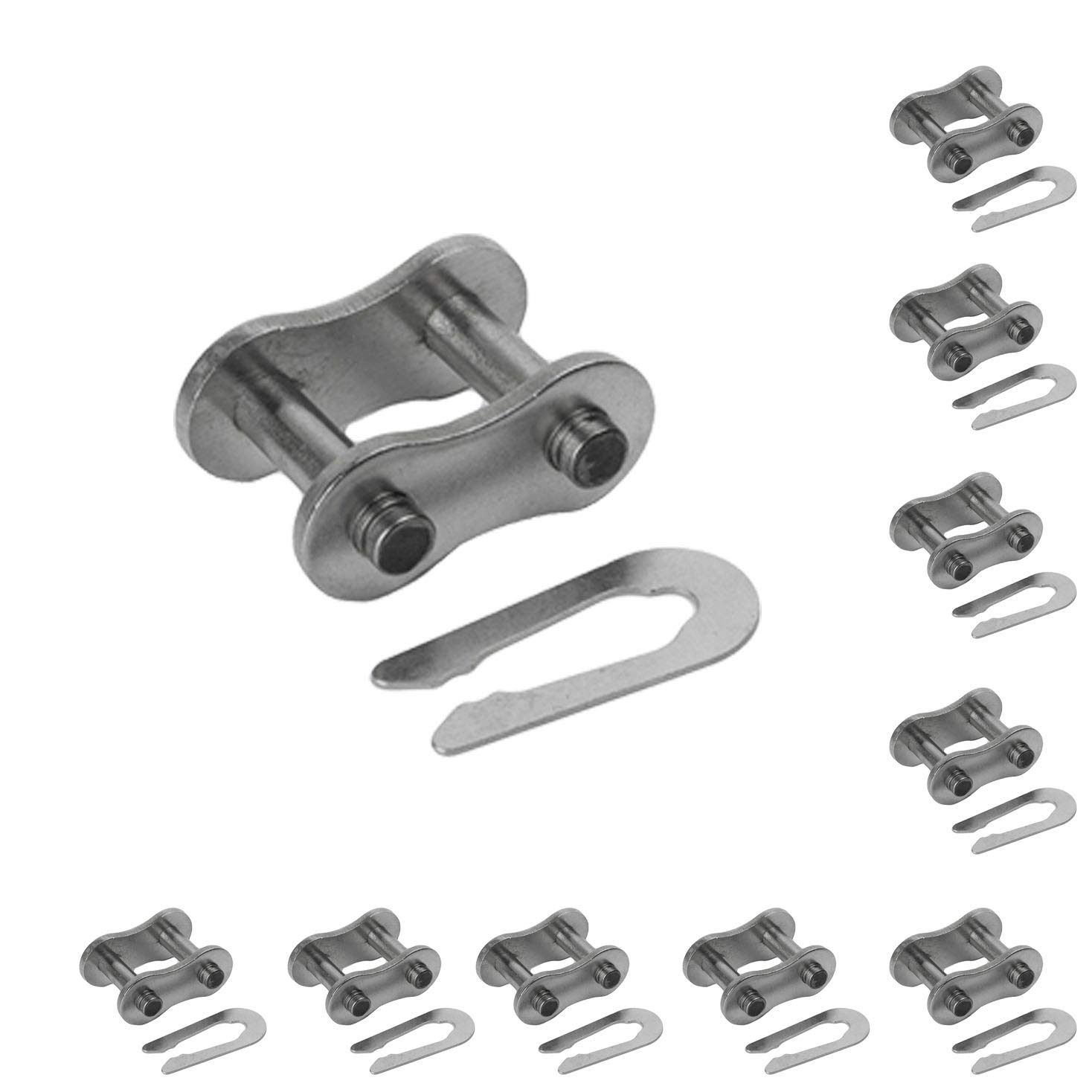 10-PCS 41NP Nickel Plated Connecting Link Roller Chain Master Link ANSI Standard