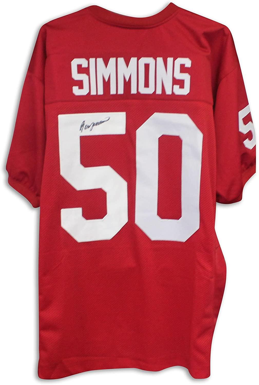 Ron Simmons Florida State Seminoles Autographed Red Jersey Autographed - Autographed College Jerseys