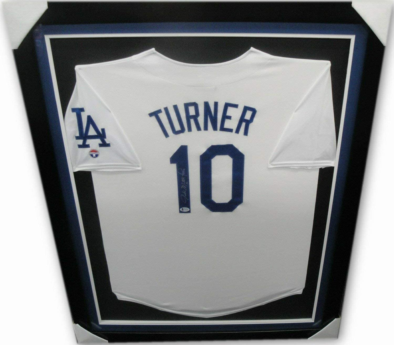 Justin Turner Autographed Signed Justin Mathew Turner Hand Autographed Jersey Full Name Framed Beckett