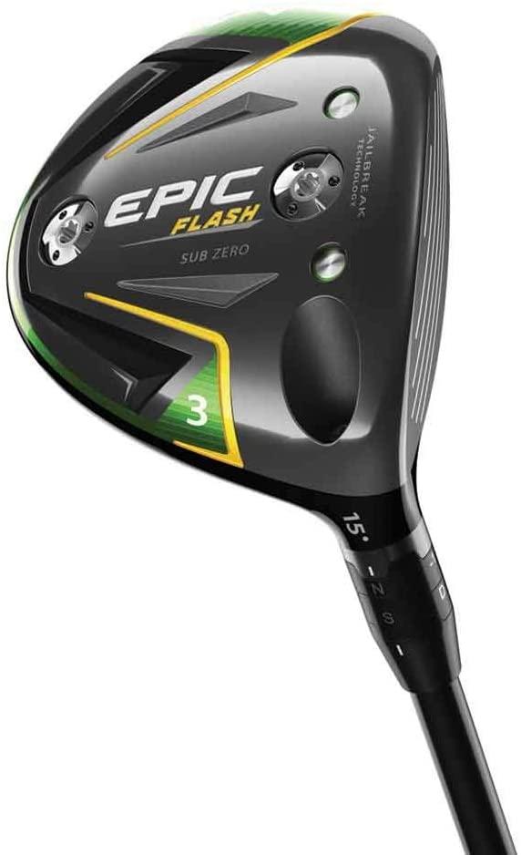 Callaway Golf 2019 Epic Flash Sub Zero Fairway Wood, 3 Wood, 15.0 Degrees, Right Hand, Mitsubishi Tensei AV Blue 70G, Extra Stiff Flex Flex