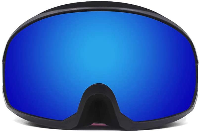 Ski Goggles, OTG Anti Fog 400 Uv Protection Snowboard Goggles Dual Layers Lens Helmet Compatible Skiing Motorcycling Woman