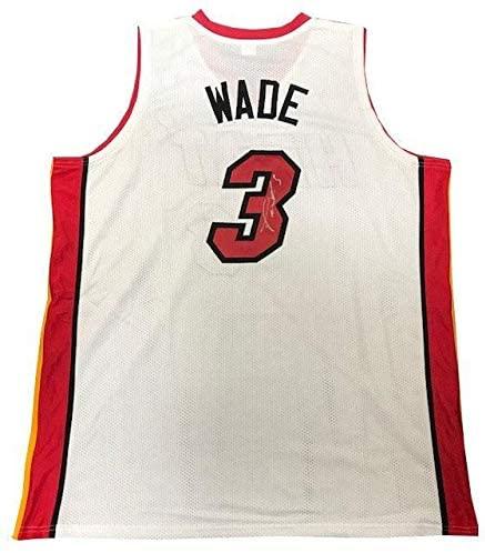 Signed Dwyane Wade Jersey - White Custom - Autographed NBA Jerseys