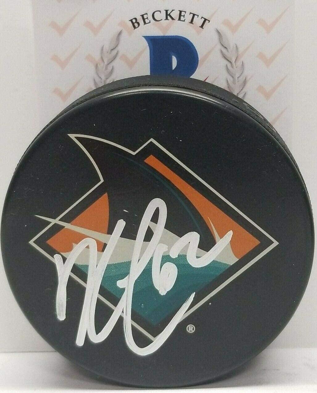 Kevin Labanc Autographed Hockey Puck - BECKETT - Beckett Authentication - Autographed NHL Pucks