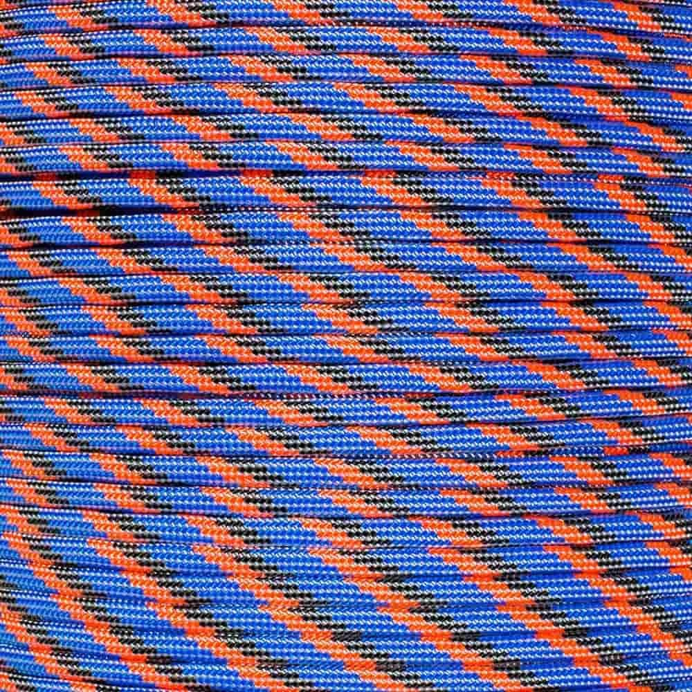 PARACORD PLANET 10 20 25 50 100 Foot Hanks and 250 1000 Foot Spools of Parachute 550 Cord Type III 7 Strand Paracord (Overload 100 Feet)