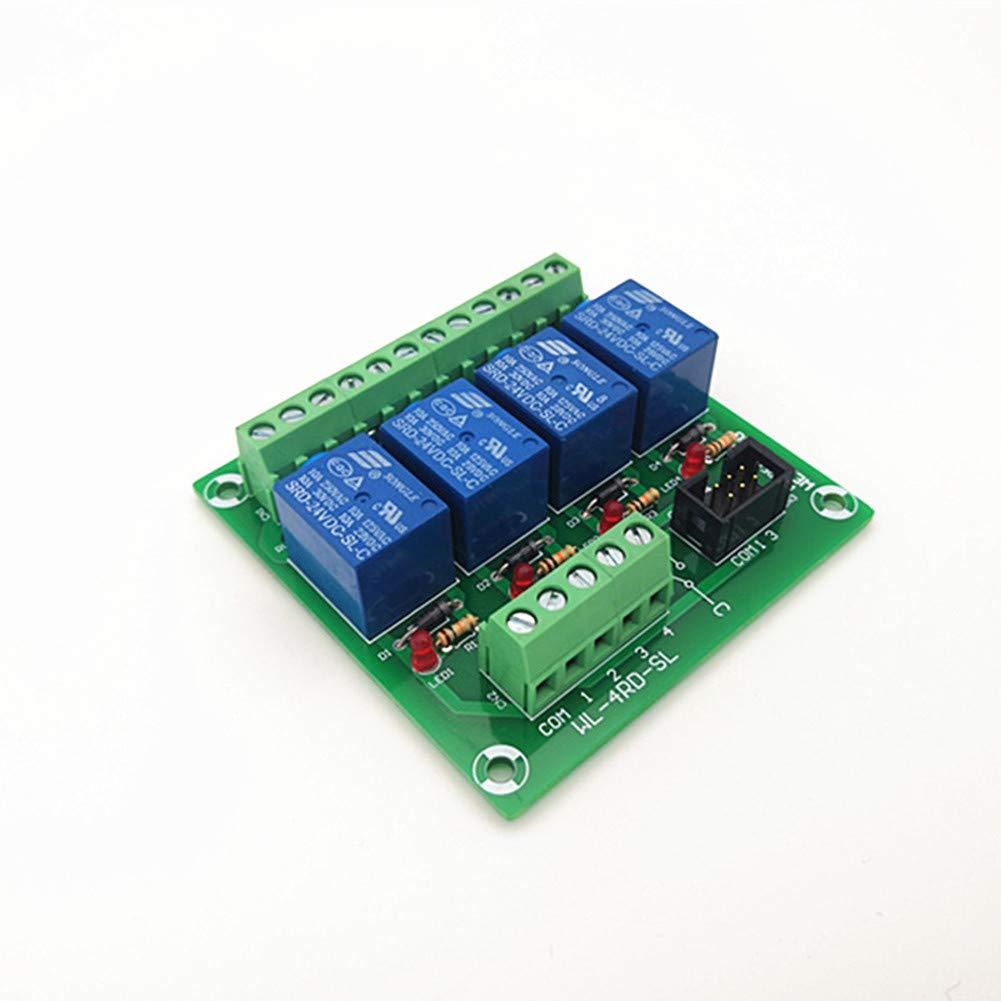 4 Channel NPN Type 5V 10A Power Relay Interface Module,SRD-5VDC-SL-C Relay.