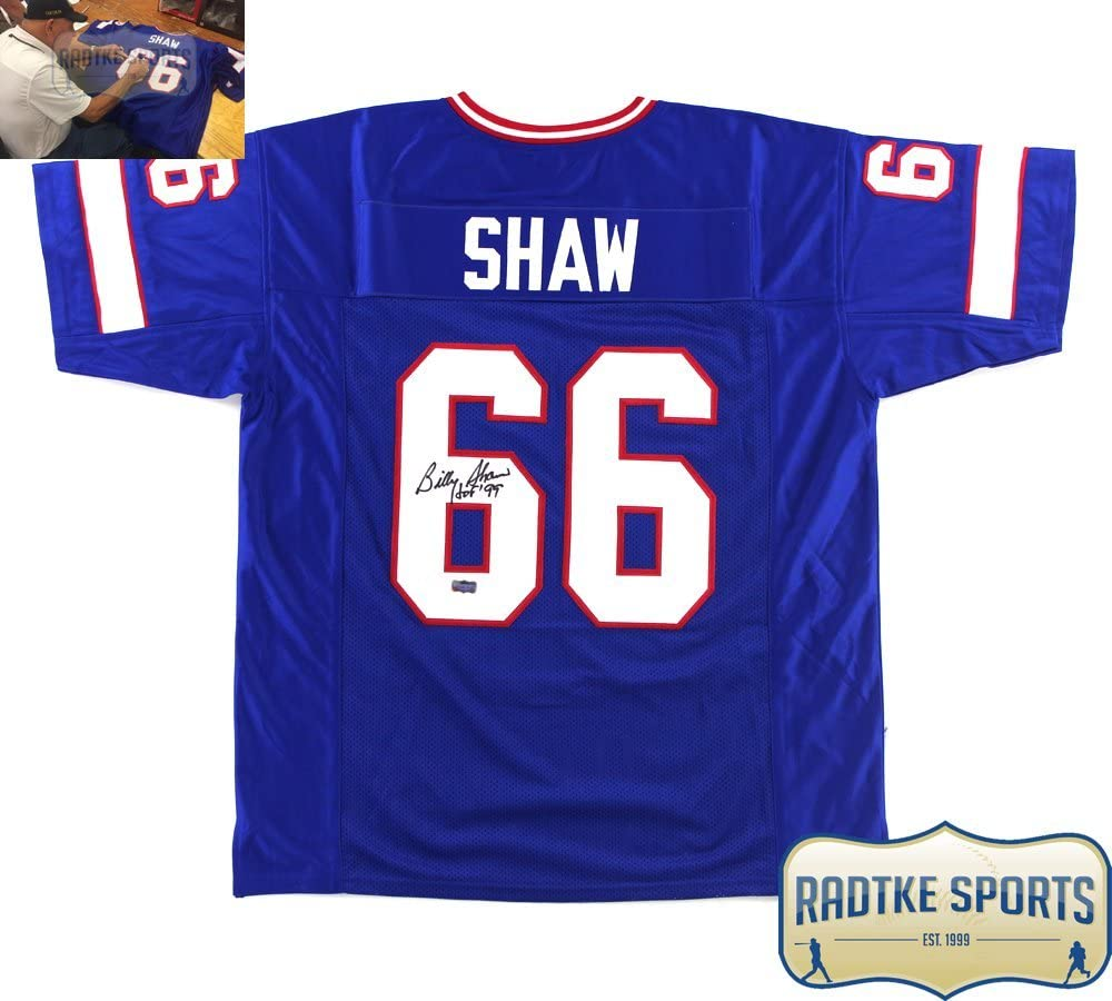 Billy Shaw Autographed/Signed Buffalo Blue Custom Jersey with