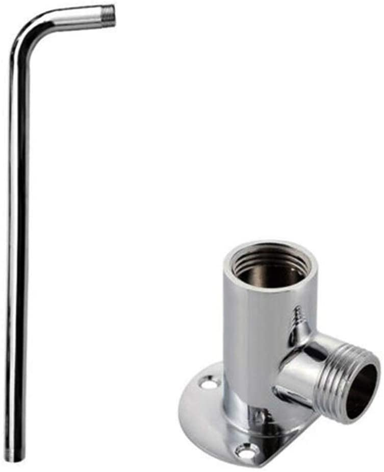 Engfgh Wall-Mounted Shower Extension Arm, Stainless Steel Arm Bracket, for Shower Bathroom Accessories 30 cm / 40 cm / 50 cm (Size : 30cm with Base)