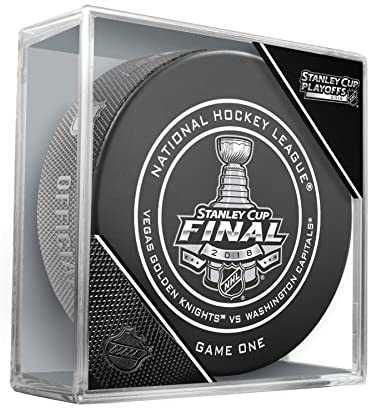 2018 Stanley Cup Finals Game #1 (One) Washington Capitals vs. Las Vegas Golden Knights Official Game Hockey Puck Cubed