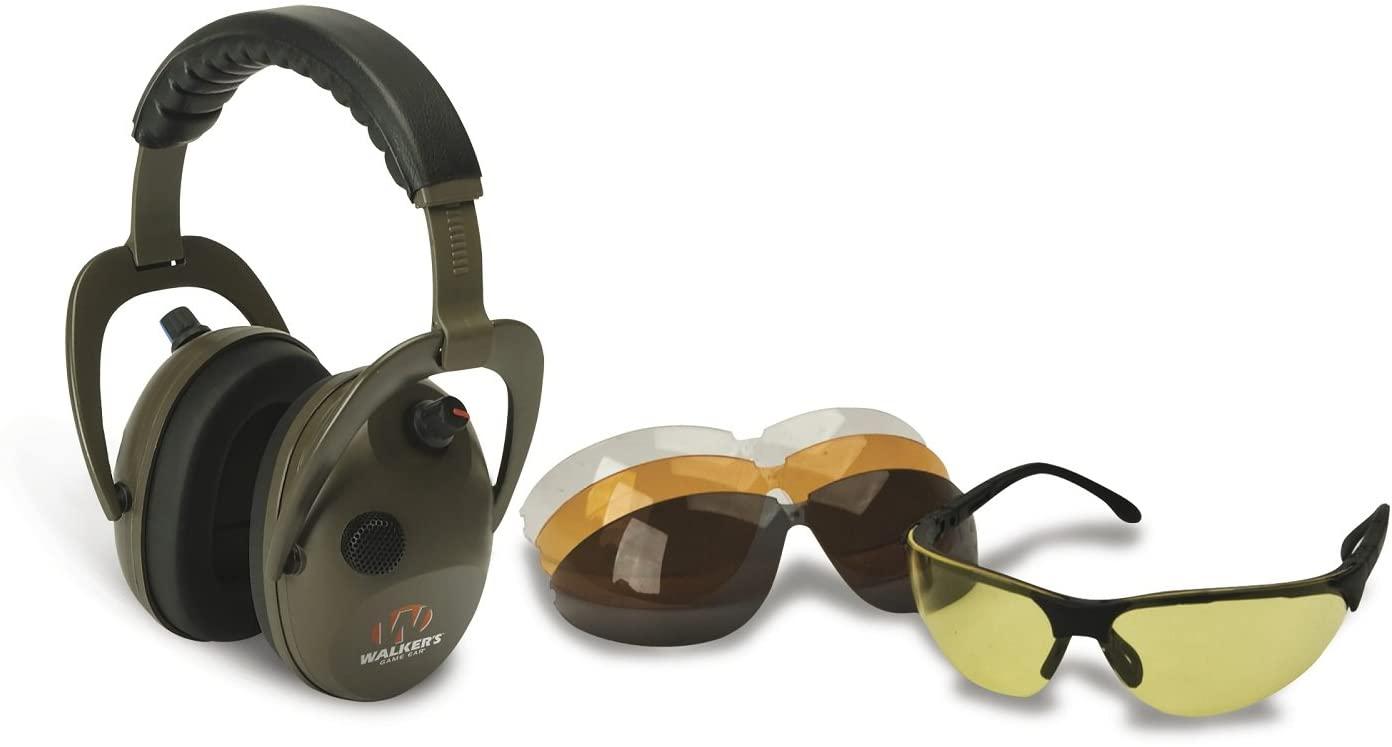Walkers Alpha Muff/Shooting Glasses Combo, D-Max Green