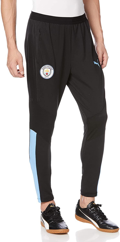 PUMA 2019-2020 Manchester City Pro Training Pants with Pockets (Black)