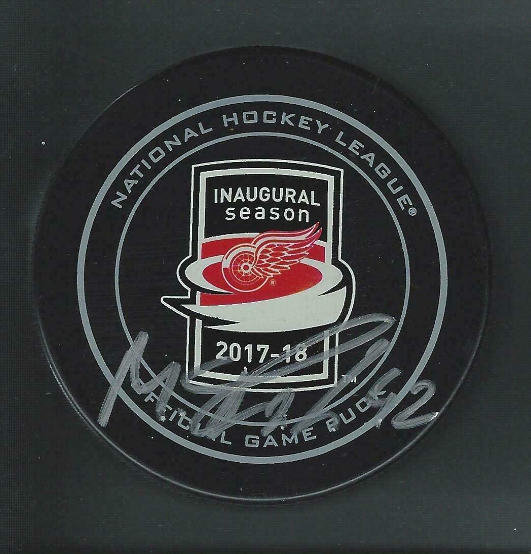 Martin Frk Autographed Puck - Little Caesars Arena Inaugural - Autographed NHL Pucks