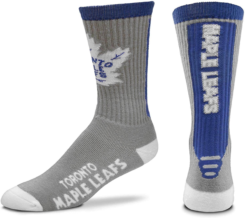 For Bare Feet NHL Mens Cool Grey Jump Key Crew Socks