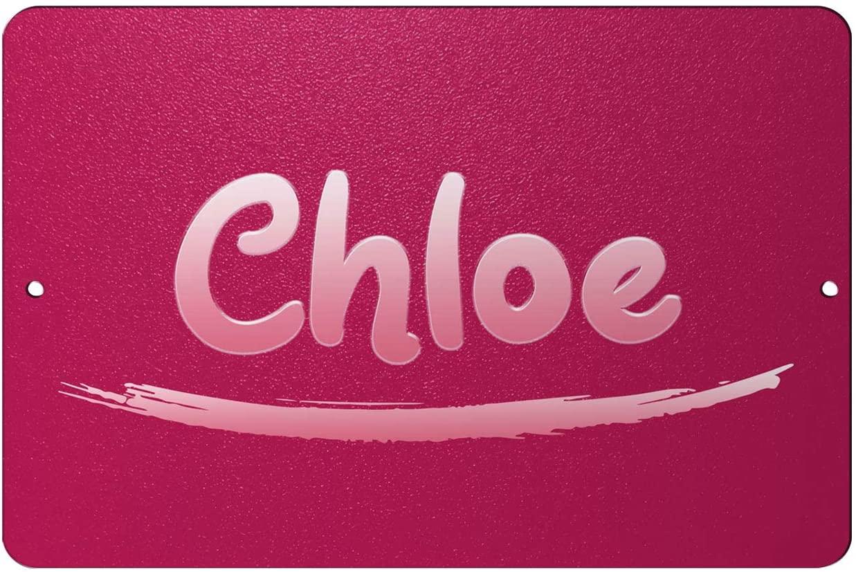 Makoroni - Chloe Female Name 12x18 inc Aluminum Decorative Wall Street Sign