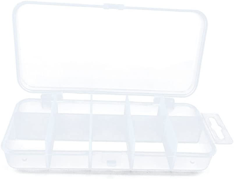 Plastic Tackle Box Clear Beads Lure Jewelry Nail Art Small Parts Display Case Storage Organizer Containers 009