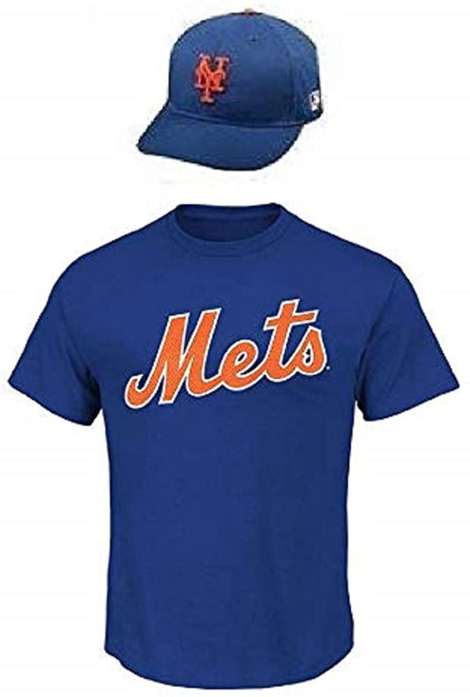 Combo Mets Adult 2X Cool-Base Replica Jersey & Adjustable Cap
