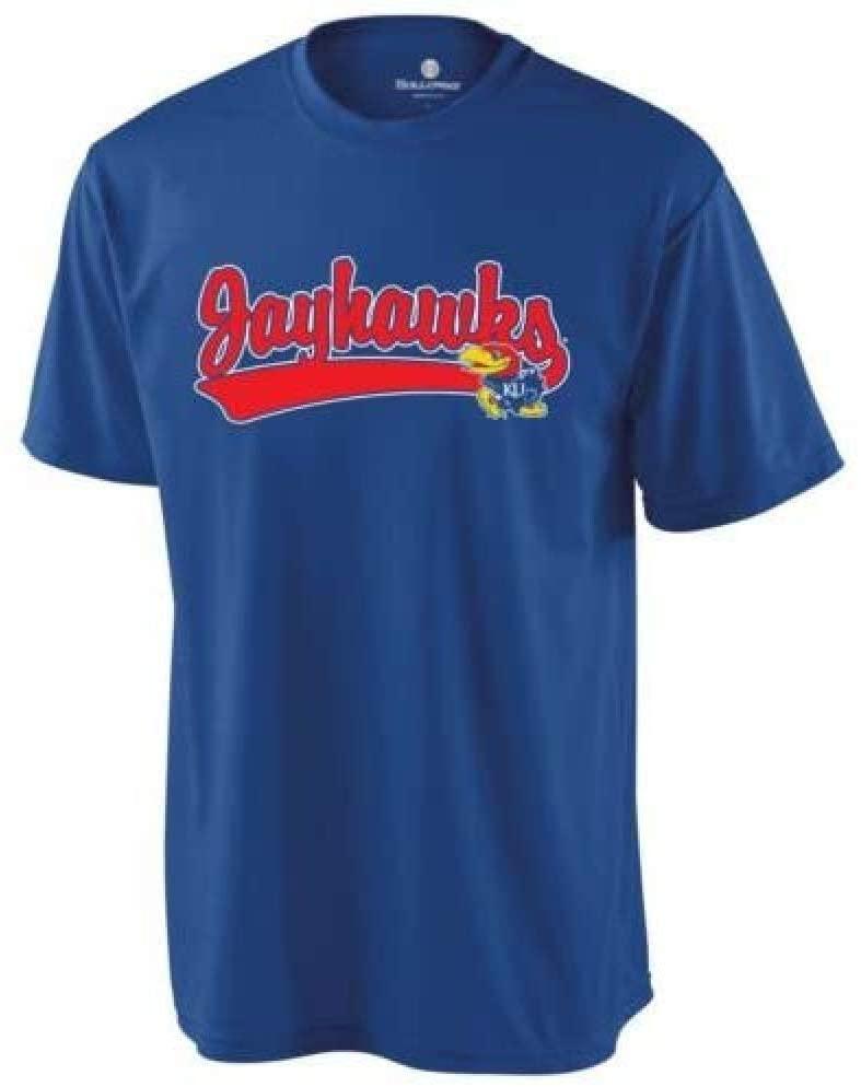 Holloway Authentic Sports Shop Adult Medium Kansas Jayhawks Blank Back Replica College Crewnecks Jersey