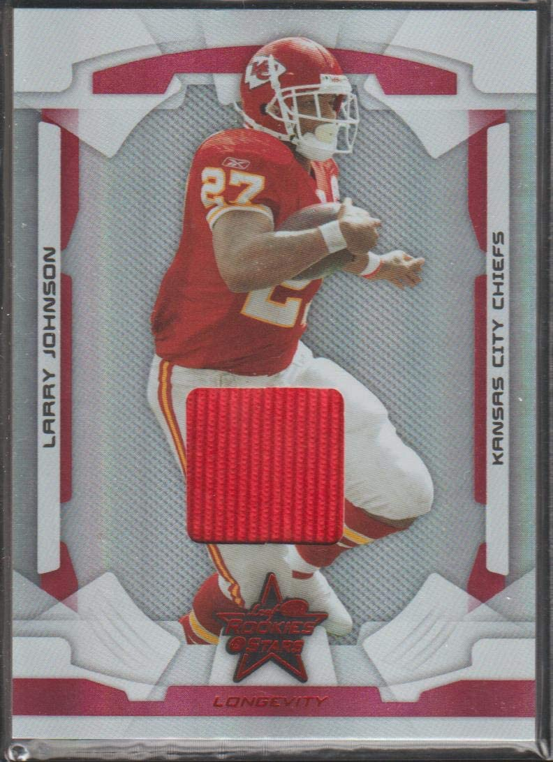 2008 Rookie & Stars Larry Johnson Chiefs 340/350 Game Used Jersey Football Card #49