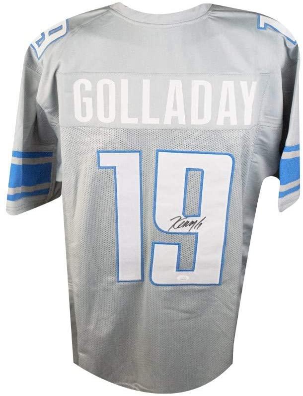 Kenny Golladay Autographed Detroit Lions Custom Gray Football Jersey - JSA COA