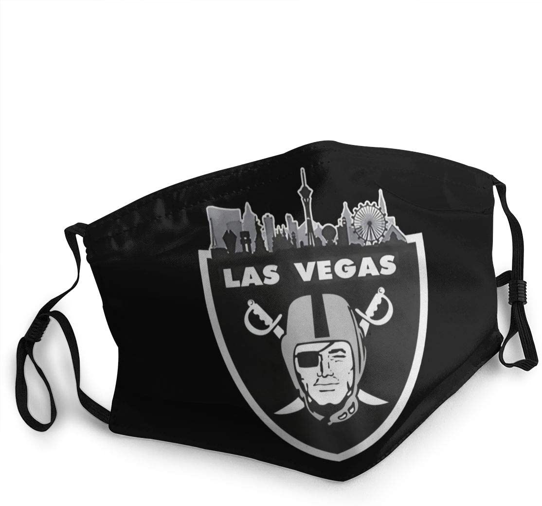 Las Vegas Raiders 1 Face Cover Fashion Anti- Face Mouth Cover Windproof Adjustable Washable Cover for Outdoor Sports