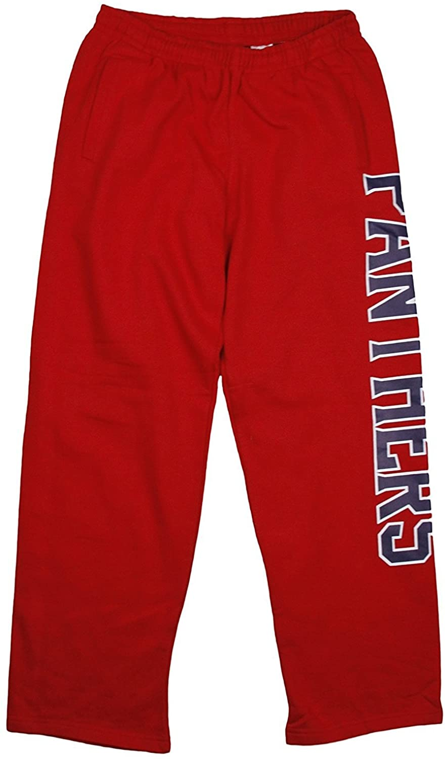 Outerstuff Florida Panthers NHL Mens Fleece Pants, Red