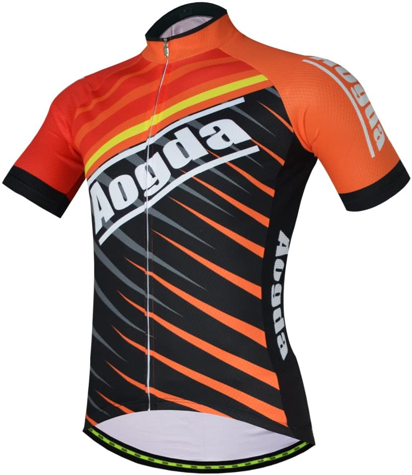 Aogda Cycling Jerseys Men Bike Biking Shirts Breathable Quick Dry Short Sleeves Suit Bicycle Clothing