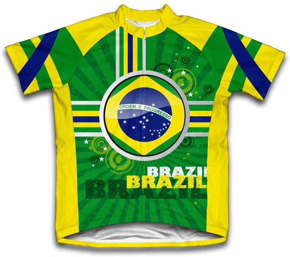 ScudoPro Brazil Short Sleeve Cycling Jersey for Men