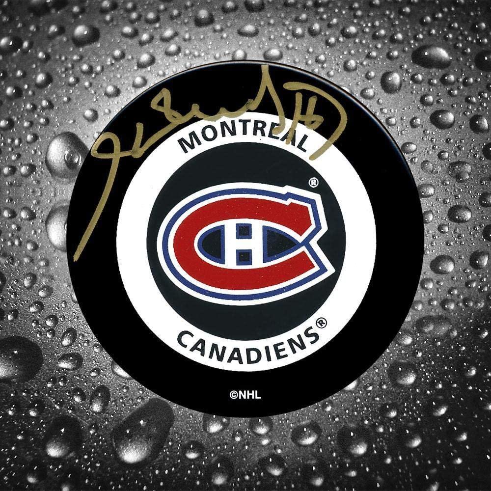 Autographed Henri Richard Puck - Official - Autographed NHL Pucks
