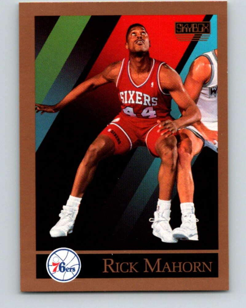 1990-91 SkyBox #217 Rick Mahorn Mint Basketball NBA 76ers