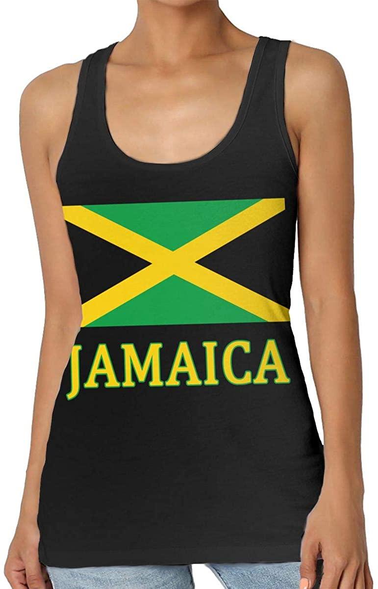 Yongchuang Feng Jamaican Flag Womens Tank Top T-Shirt Funny Sleeveless Vest