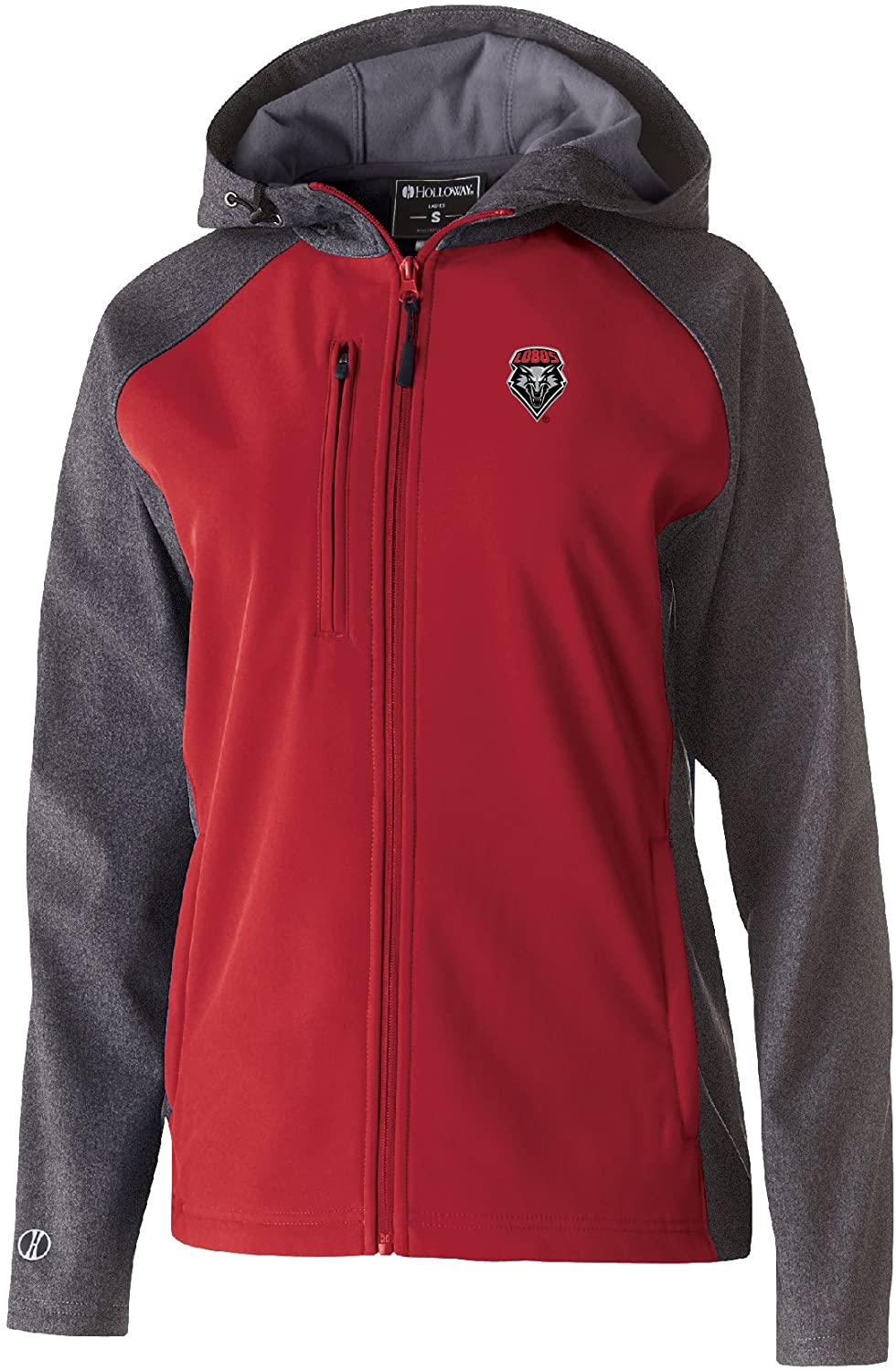 NCAA New Mexico Lobos Women's Raider Soft Shell Jacket, Small, Carbon Print/Scarlet