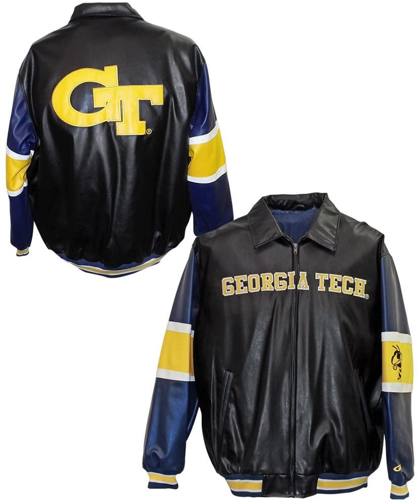 Georgia Tech Yellow Jackets Wordmark Pleather Jacket