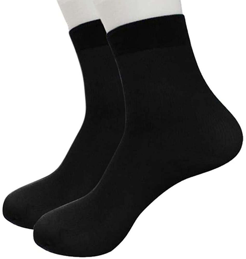 Short Socks-Han Shi Ultra-thin Elastic Anti-Slip Silky Casual Crew Socks Slippers