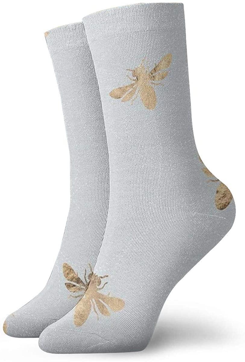 Game Life Crew Socks Bees On Cream Men Women Sock Casual Socks