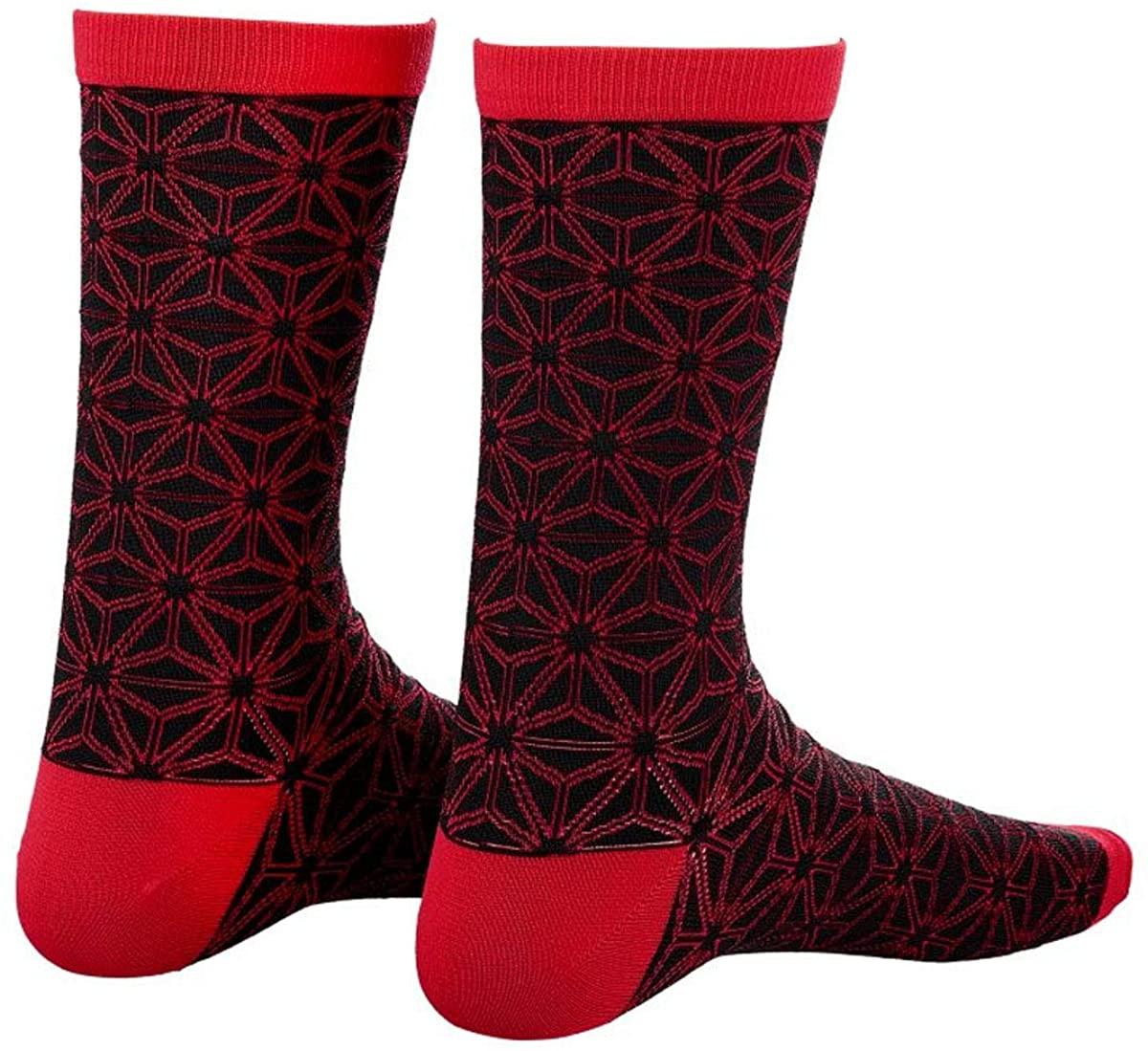 Supacaz SupaSox Asanoha Socks - Black & Red - SX-50