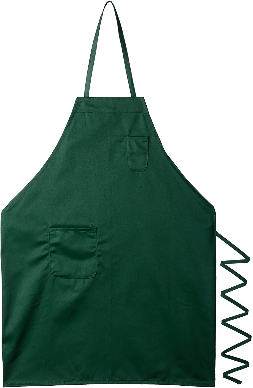 Winco BA-PGN Full Length Bib Apron with Pocket, Green