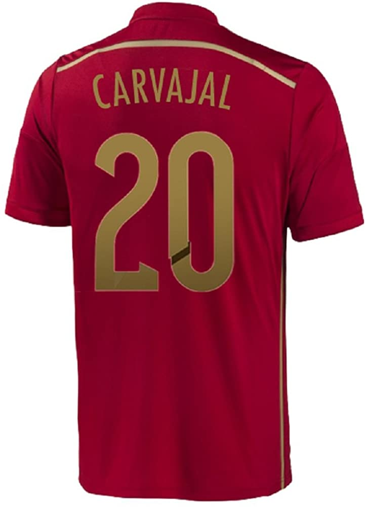 adidas Carvajal #20 Spain Home Jersey World Cup 2014
