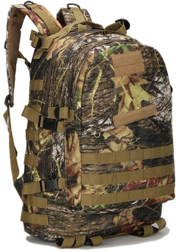 weizhang 40L 3D Outdoor Sports Tactics wear-Resistant Durable Hunting Mountaineering Backpack Fishing Waterproof Rucksack Travel Bag MapleLeafCamo