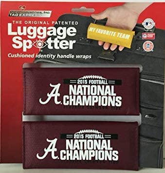 Luggage Spotter Alabama Crimson Tide National Champions Luggage Handle Wrap - Luggage Tag (2-Pack) - Closeout! Selling Fast!