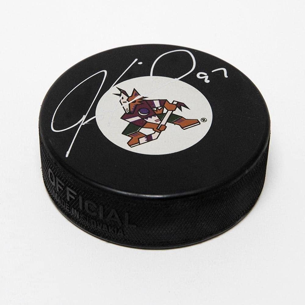 Jeremy Roenick Signed Hockey Puck - Phoenix Retro Logo - Autographed NHL Pucks