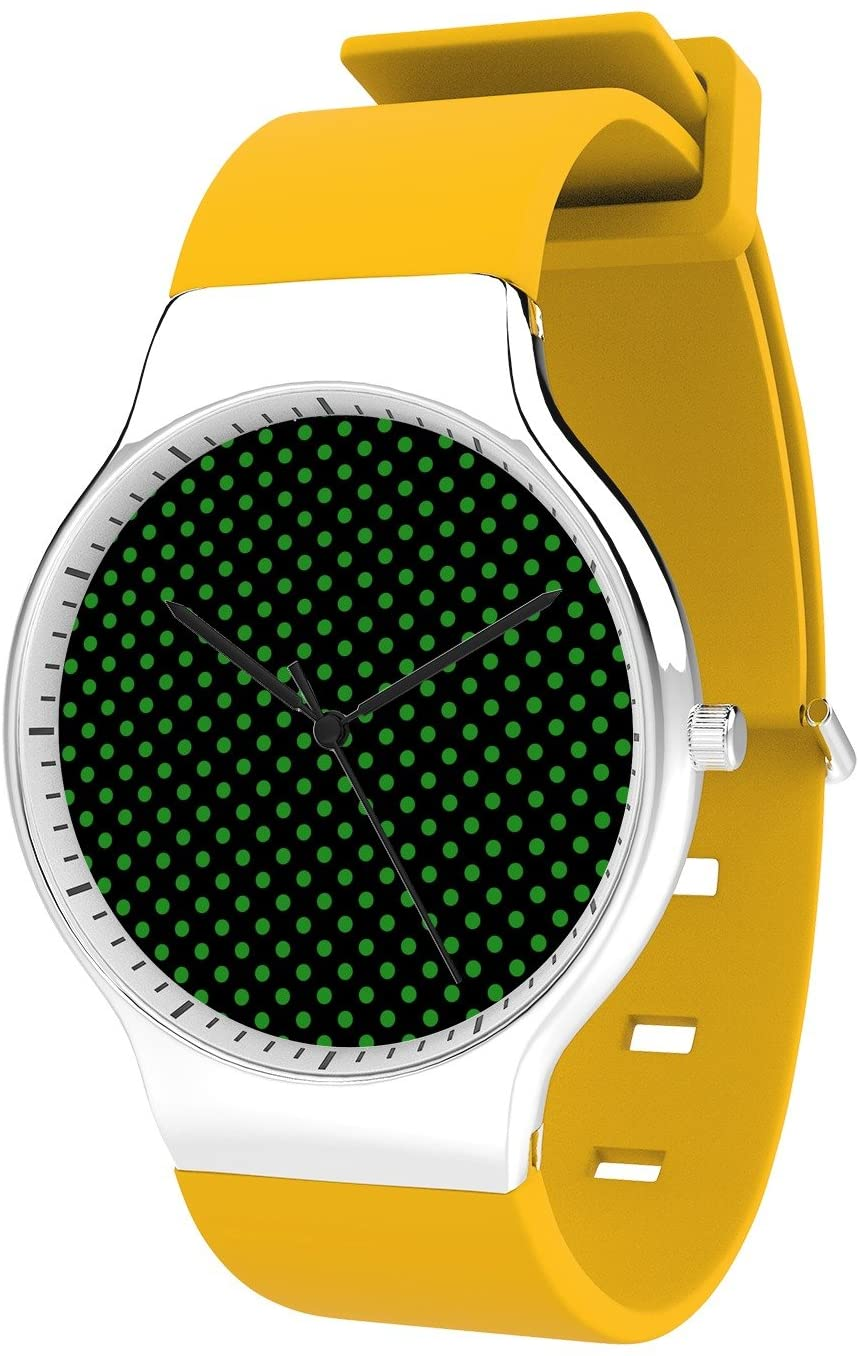 Modern Unisex Wrist Watch, Minimalist Fashion Waterproof Watches Simple Silicone Band Dress Watches for Business Men (Honeycomb)