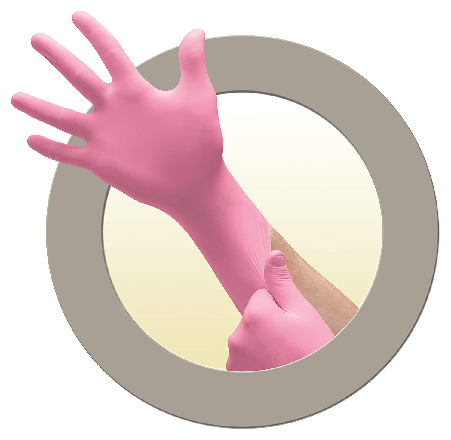 Microflex ColorTouch Latex Gloves - Disposable, Exam Grade, Pink, Size Small (pack of 100)