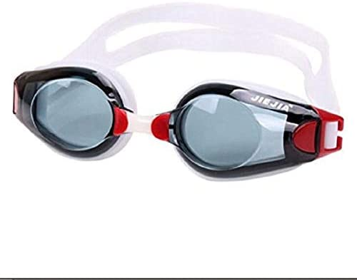 redcolourful Fashion Clear Swimming Goggles No Leaking Anti Fog UV Protection Black