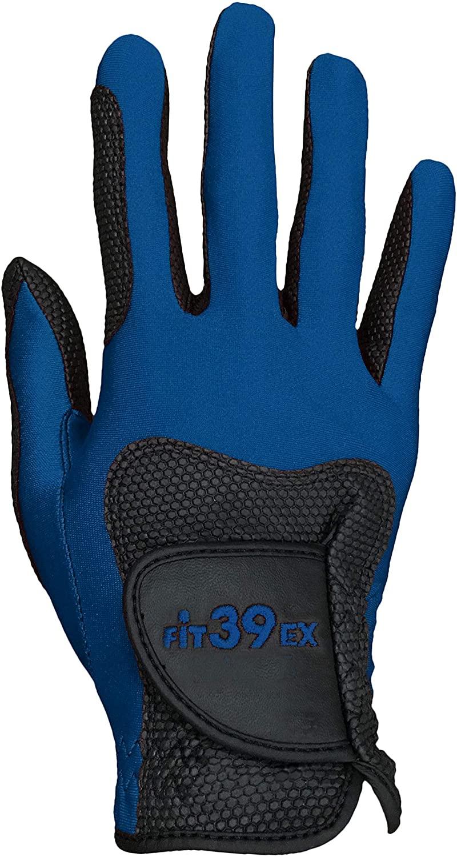 FiT39 Right Hand Golf Gloves (Navy/Black, XL)